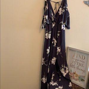 Beautiful cold shoulder maxi dress